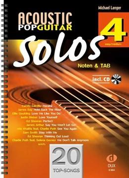 Abbildung von Acoustic Pop Guitar Solos 4 | 2019 | Noten & TAB - easy/medium