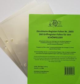 Abbildung von 260 transparente Dürckheim-Griffregister-Folien zum Einheften und Unterteilen der Gesetzessammlungen | 2019 | 260 transparente Trägerfolien ...