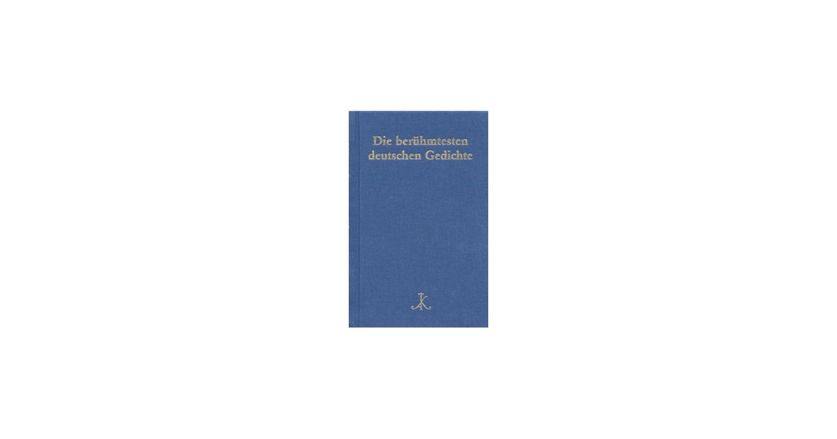 berühmte deutsche gedichte