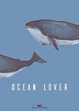 Abbildung von Maritimes Notizbuch - Illustration: Wale, Spruch: Ocean Lover | 2019