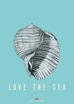 Abbildung von Maritimes Notizbuch - Illustration: Muschel, Spruch: Love the Sea   2019