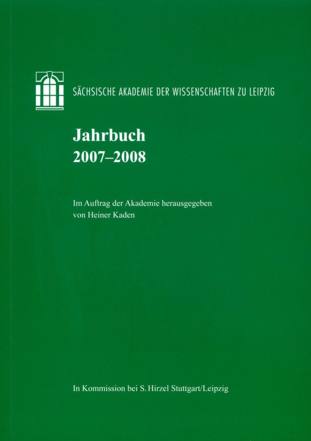 Jahrbuch 2007–2008 | Kaden, 2009 | Buch (Cover)
