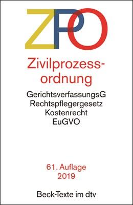 Abbildung von Zivilprozessordnung: ZPO | 61., überarbeitete Auflage | 2019 | mit Einführungsgesetz, Unterla... | 5005