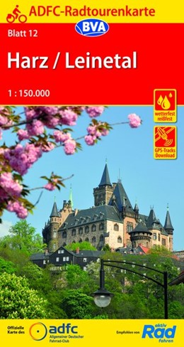 Abbildung von ADFC-Radtourenkarte 12 Harz /Leinetal 1:150.000, reiß- und wetterfest, GPS-Tracks Download | 9. Auflage | 2019 | beck-shop.de