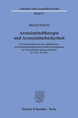 Abbildung von Sodan | Arzneimitteltherapie und Arzneimittelsicherheit | 2019 | Zur Einschränkbarkeit der erla...