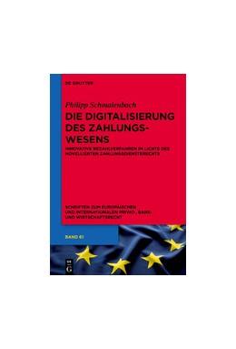 Abbildung von Schmalenbach   Die Digitalisierung des Zahlungswesens   1. Auflage   2019   Innovative Bezahlverfahren im ...