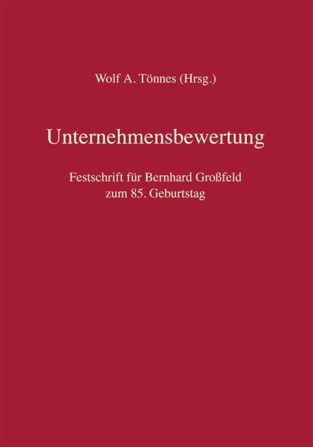Abbildung von Tönnes (Hrsg.) | Unternehmensbewertung | 2019