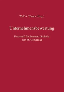 Abbildung von Tönnes (Hrsg.) | Unternehmensbewertung | 2019 | Festschrift für Bernhard Großf...