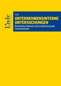Abbildung von Dangl | Unternehmensinterne Untersuchungen | 1. Auflage | 2019 | beck-shop.de