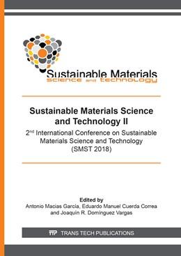 Abbildung von Macias Garc?a / Cuerda Correa | Sustainable Materials Science and Technology II | 1. Auflage | 2019 | Volume 1151 | beck-shop.de