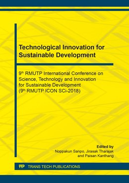 Abbildung von Sanpo / Tharajak / Kanthang | Technological Innovation for Sustainable Development | 2019 | 9th RMUTP International Confer... | Volume 891
