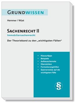 Abbildung von Hemmer / Wüst | Grundwissen Sachenrecht II | 7. Auflage | 2019 | beck-shop.de