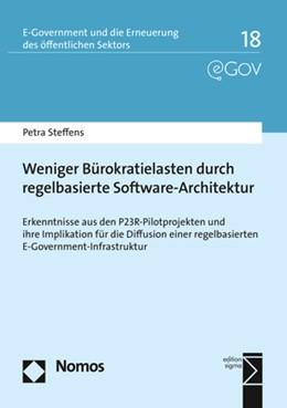 Abbildung von Steffens | Weniger Bürokratielasten durch regelbasierte Software-Architektur | 2019 | Erkenntnisse aus den P23R-Pilo...