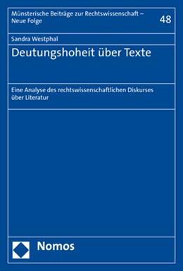 Abbildung von Westphal | Deutungshoheit über Texte | 2019 | Eine Analyse des rechtswissens... | 48