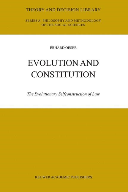 Evolution and Constitution | Oeser, 2003 | Buch (Cover)