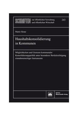 Abbildung von Hesse | Haushaltskonsolidierung in Kommunen | 2019 | Möglichkeiten und Grenzen komm...