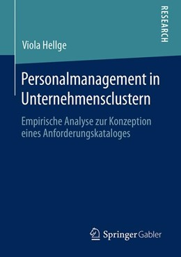 Abbildung von Hellge | Personalmanagement in Unternehmensclustern | 1. Auflage | 2019 | beck-shop.de