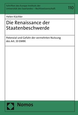 Abbildung von Küchler | Die Renaissance der Staatenbeschwerde | 1. Auflage | 2020 | 110 | beck-shop.de