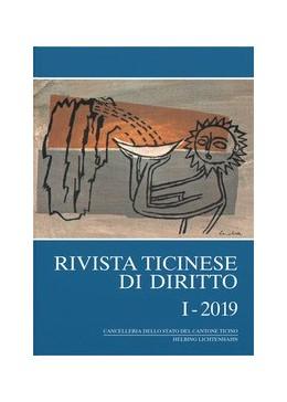 Abbildung von Rivista ticinese di diritto: RtiD: I - 2019   1. Auflage   2019   beck-shop.de