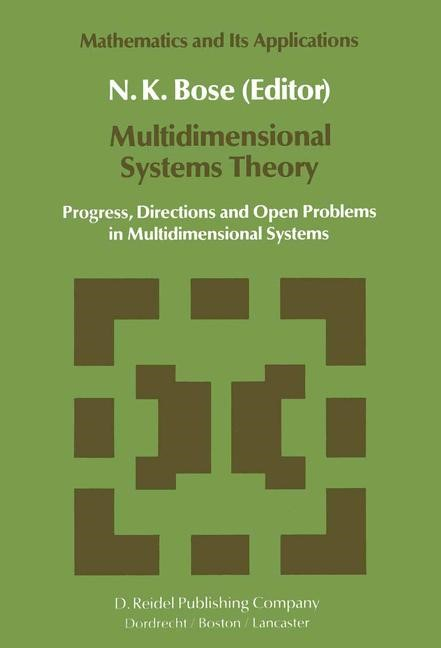 Multidimensional Systems Theory | Bose, 1985 | Buch (Cover)