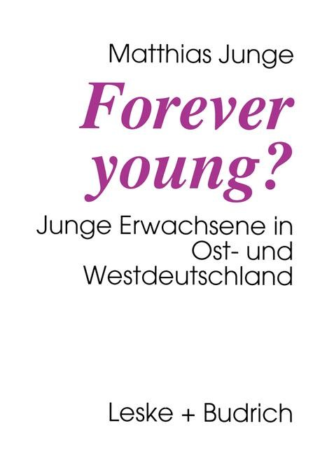 Forever young? | Junge, 1995 | Buch (Cover)