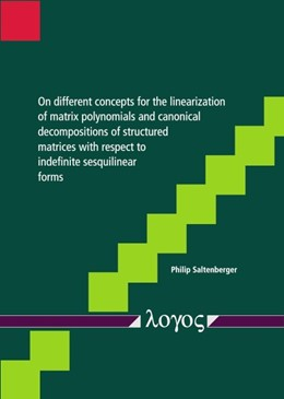 Abbildung von Saltenberger | On different concepts for the linearization of matrix polynomials and canonical decompositions of structured matrices with respect to indefinite sesquilinear forms | 2019
