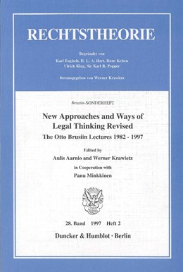 Abbildung von Aarnio / Krawietz | New Approaches and Ways of Legal Thinking Revised. | 1998 | The Otto Brusiin Lectures 1982...