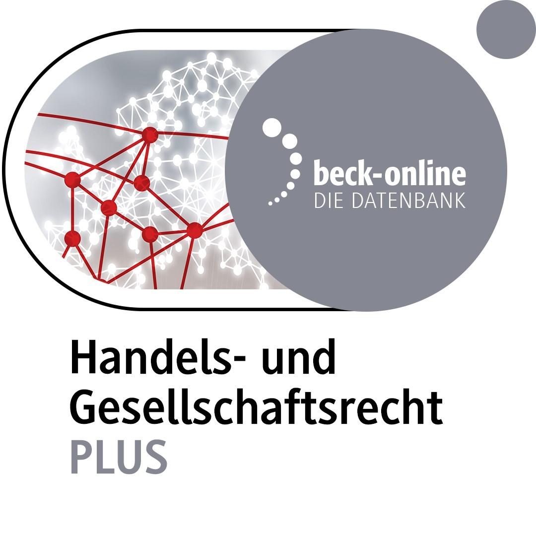 beck-online. Handels- und Gesellschaftsrecht PLUS (Cover)