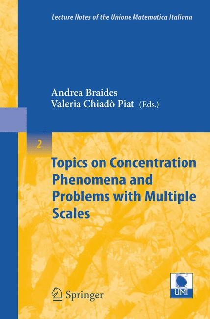 Topics on Concentration Phenomena and Problems with Multiple Scales | Braides / Chiadò Piat, 2006 | Buch (Cover)