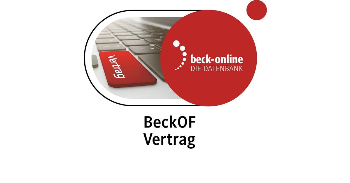 beck-online. Beck\'sche Online-Formulare Vertrag | beck-shop.de