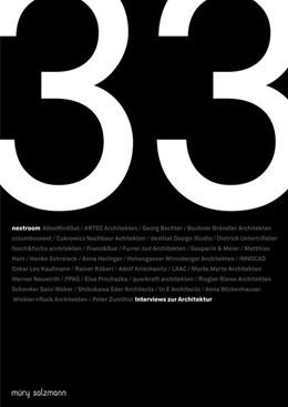 Abbildung von 33 Interviews zur Architektur   2019