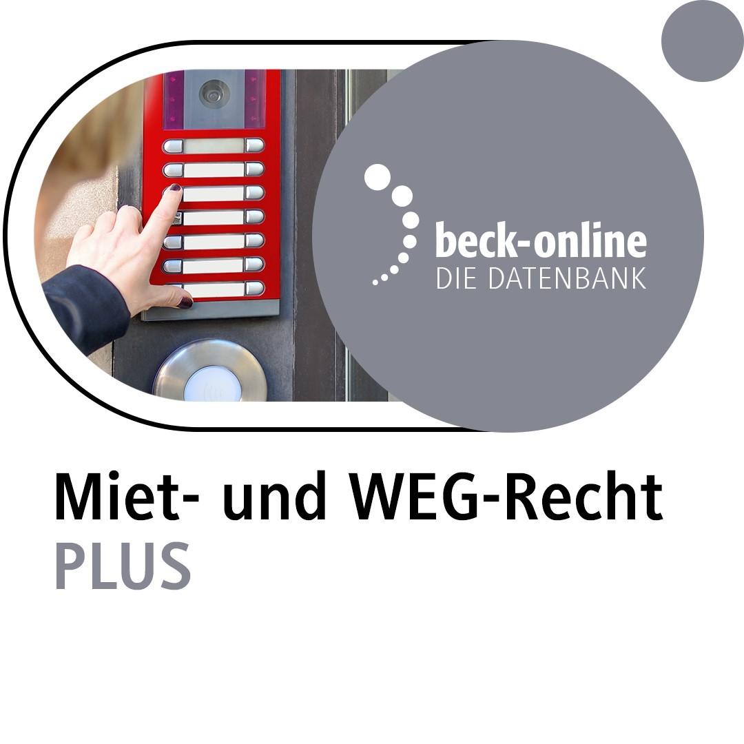 Abbildung von beck-online. Miet- und WEG-Recht PLUS