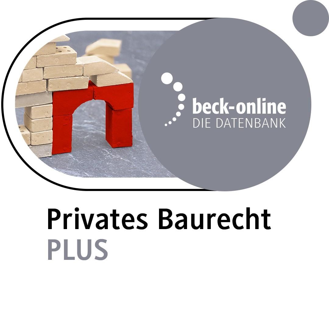 Abbildung von beck-online. Privates Baurecht PLUS