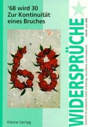 '68 wird 30. Zur Kontinuität eines Bruches, 1998 | Buch (Cover)