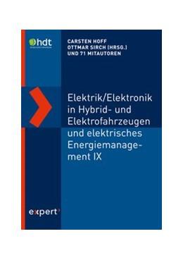 Abbildung von Hoff / Sirch | Elektrik/Elektronik in Hybrid- und Elektrofahrzeugen und elektrisches Energiemanagement IX | 2019