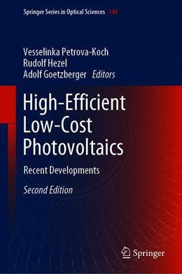 Abbildung von Petrova-Koch / Hezel / Goetzberger | High-Efficient Low-Cost Photovoltaics | 2nd ed. 2019 | 2019 | Recent Developments | 140