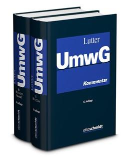 Abbildung von Lutter   Umwandlungsgesetz (UmwG)   6., neu bearbeitete und erweiterte Auflage   2019   Kommentar mit systematischer D...