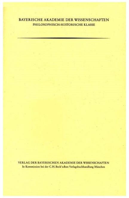 Cover: , Friedrich Immanuel Niethammer (1766-1848)