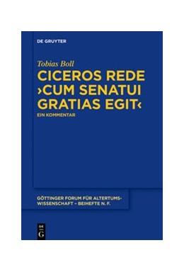 Abbildung von Boll | Ciceros Rede ›cum senatui gratias egit‹ | 2019 | Ein Kommentar