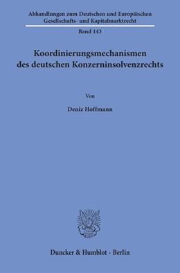 Abbildung von Hoffmann | Koordinierungsmechanismen des deutschen Konzerninsolvenzrechts | 2019 | 143