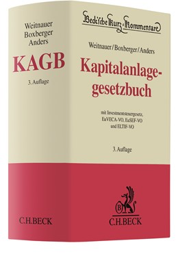 Abbildung von Weitnauer / Boxberger   KAGB   3. Auflage   2021   beck-shop.de