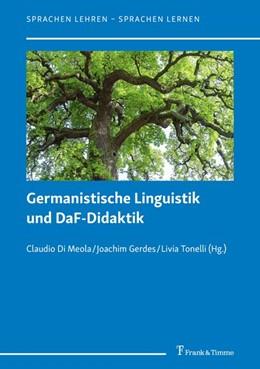 Abbildung von Di Meola / Gerdes / Tonelli   Germanistische Linguistik und DaF-Didaktik   2019