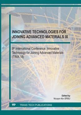 Abbildung von S?rbu | Innovative Technologies for Joining Advanced Materials IX | 1. Auflage | 2019 | Volume 1153 | beck-shop.de