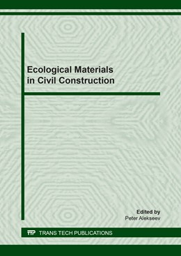 Abbildung von Alekseev   Ecological Materials in Civil Construction   2019   Volume 802
