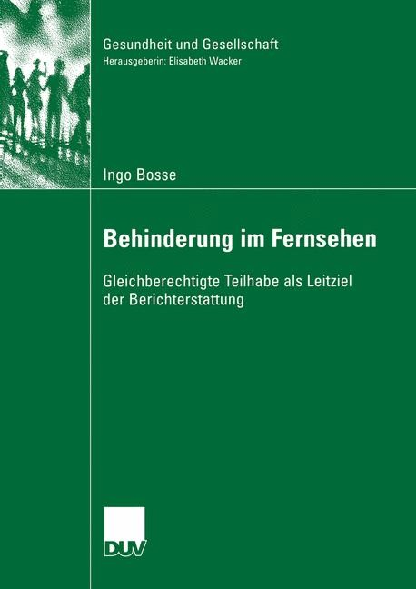 Behinderung im Fernsehen | Bosse, 2006 | Buch (Cover)