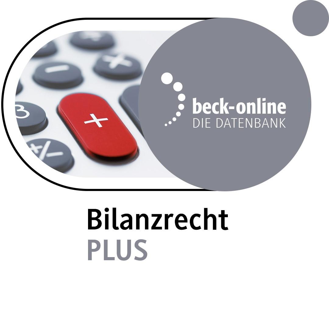 Abbildung von beck-online. Bilanzrecht PLUS