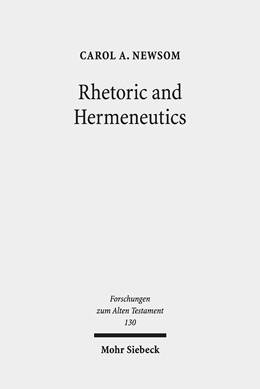Abbildung von Newsom | Rhetoric and Hermeneutics | 2019 | Approaches to Text, Tradition ... | 130