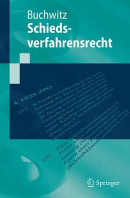 Abbildung von Buchwitz | Schiedsverfahrensrecht | 2019