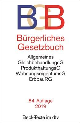 Abbildung von Bürgerliches Gesetzbuch: BGB | 84., überarbeitete Auflage | 2019 | mit Allgemeinem Gleichbehandlu... | 5001