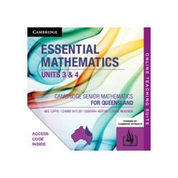 Abbildung von Capps / Butler / Burton | CSM QLD Essential Mathematics Units 3 and 4 Online Teaching Suite (Code) | 2019